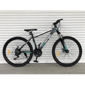 """Спортивный велосипед Toprider 611 26"""" черно-зеленый"""