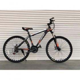 """Спортивный велосипед Toprider 611 26"""" черно-оранжевый"""
