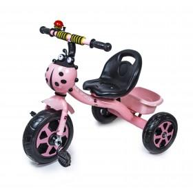 Велосипед триколісний Scale Sport Божа корівка, рожевий