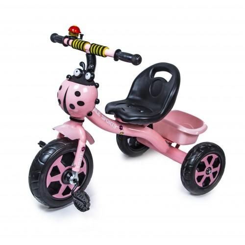Велосипед трехколесный Scale Sport Божья коровка, розовый