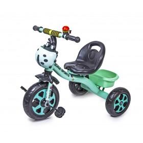 Велосипед триколісний Scale Sport Божа корівка, бірюзовий