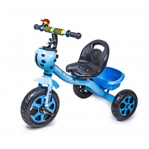 Велосипед трехколесный Scale Sport Божья коровка, синий