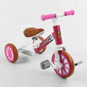 Велосипед-біговел, 2 в 1 Best Trike 15996 рожевий