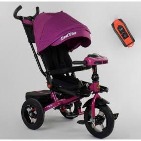 Велосипед трехколесный Best Trike 6088 F New 2020 фара c USB (08-202) фиолетовый