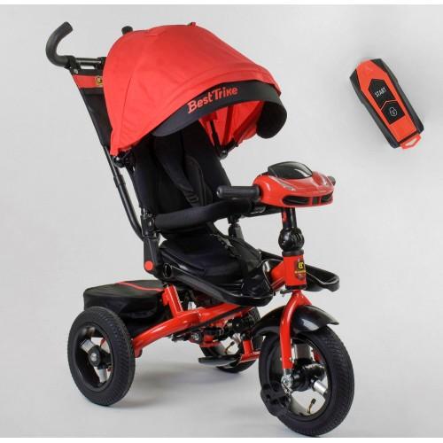 Велосипед трехколесный Best Trike 6088 F New 2020 фара c USB (07-101) красный