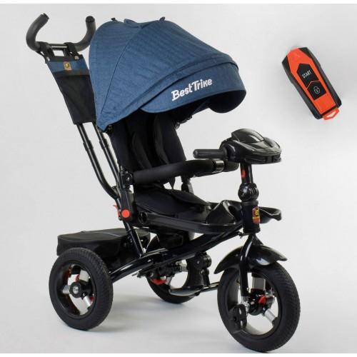 Велосипед трехколесный Best Trike 6088 F New 2020 фара c USB (09-504) синий