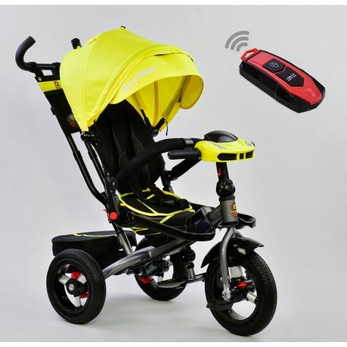 Велосипед трехколесный Best Trike 6088 F с пультом, желтый New