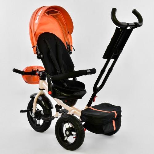 Велосипед трехколесный Best Trike 6088 F с пультом, оранжевый с бежевой рамой New!