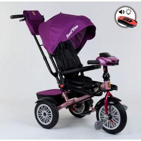 Велосипед трехколесный Best Trike 9288 (поворотное сиденье, с пультом) фиолетовый