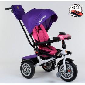 Велосипед трехколесный Best Trike 9288 (поворотное сиденье, с пультом) фиолетовый с розовым
