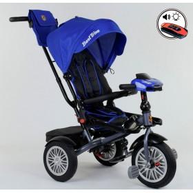 Велосипед трехколесный Best Trike 9288 (поворотное сиденье, с пультом) синий