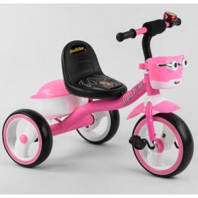 Велосипед трехколесный Best Trike с двумя корзинками 94881 розовый
