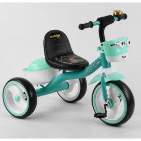 Велосипед трехколесный Best Trike с двумя корзинками 80627 бирюзовый