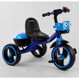 Велосипед трехколесный Best Trike с двумя корзинками 32102 синий