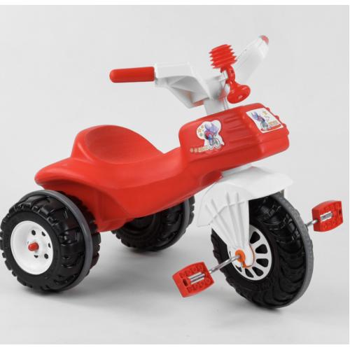 Велосипед трехколесный Pilsan 07-119 бело-красный