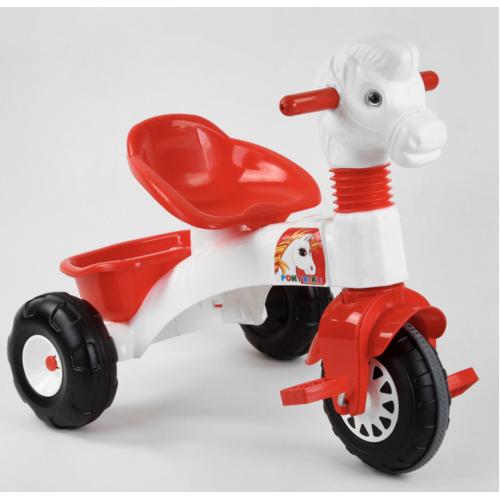 Велосипед трехколесный Pilsan 07-146 бело-красный