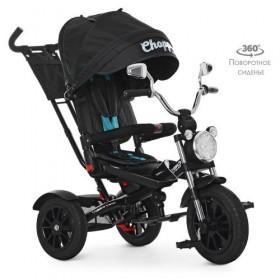 Велосипед трехколесный TURBOTRIKE M 4056 черно-голубой