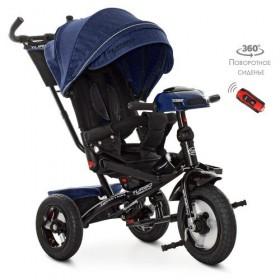 Велосипед трехколесный TURBOTRIKE M 4060HA темно-синий