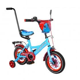 """Велосипед двухколесный Tilly Monstro T-21228/1 12"""" красно-голубой"""