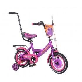 """Велосипед двухколесный Tilly Monstro T-212211 12"""" фиолетовый"""