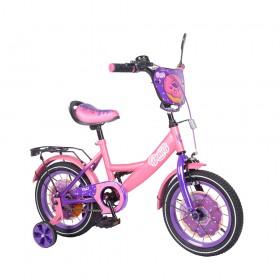 """Велосипед двухколесный Tilly Donut T-214214/1 14"""" розовый"""
