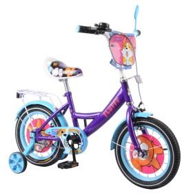 """Велосипед двухколесный Tilly Fluffy T-214213 14"""" фиолетовый"""