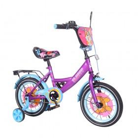 """Велосипед двухколесный Tilly Fluffy T-214213/1 14"""" фиолетовый"""