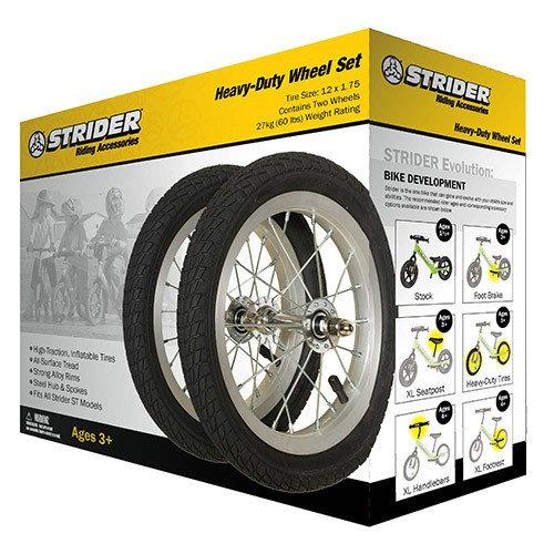 Накачиваемые колёса Strider на алюминиевом ободе (пара)
