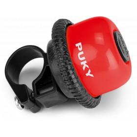 Звонок ротационный Puky G20 для беговелов и самокатов, красный
