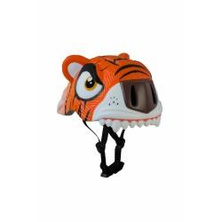 Защитный шлем Crazy Safety IN-MOLD с фонарем безопасности Оранжевый тигр