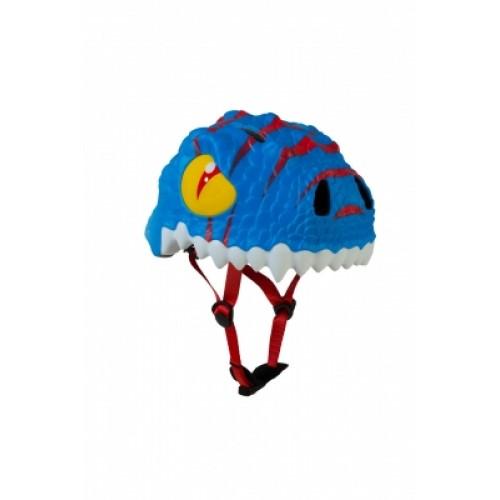 Защитный шлем Crazy Safety IN-MOLD с фонарем безопасности Голубой дракон