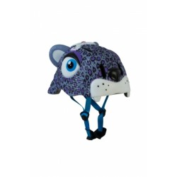 Защитный шлем Crazy Safety IN-MOLD с фонарем безопасности Пурпурный леопард