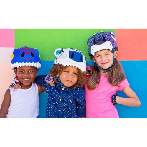 Защитный шлем Crazy Safety IN-MOLD с фонарем безопасности Белый тигр