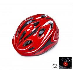 Защитный шлем Sporthelmet с регулировкой размера красный
