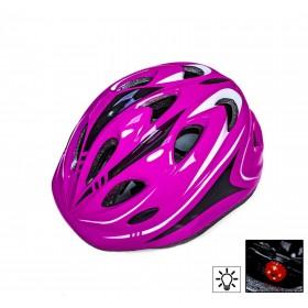 Захисний шолом Sporthelmet з регулюванням розміру малиновий
