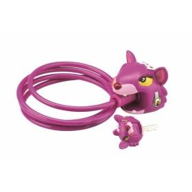 Замок тросовый CRAZY SAFETY Чеширский кот