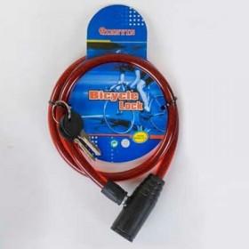 Велосипедный тросовый замокC36782, красный