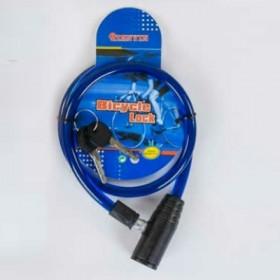 Велосипедный тросовый замокC36782, синий