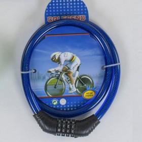 Велосипедный тросовый замокC40300, синий