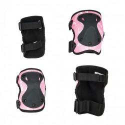 Захисний комплект налокітники та наколінники MICRO розмір М, рожевий