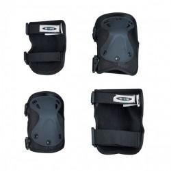 Захисний комплект налокітники та наколінники MICRO розмір М, чорний