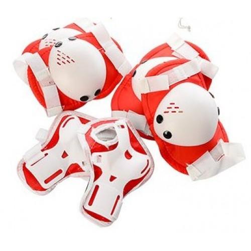 Защита Profi MS 0032 для локтей, коленей и запястий, красная