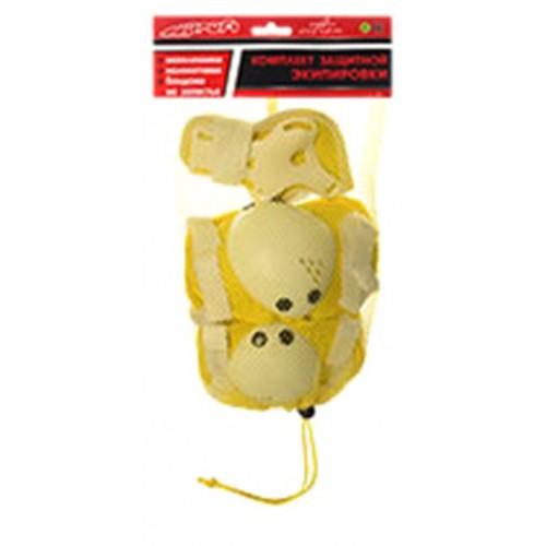 Захист Profi MS 0032 для ліктів, колін і зап'ясть на липучці жовтий