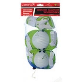 Защита Profi MS 0032 для локтей, коленей и запястий, зеленая