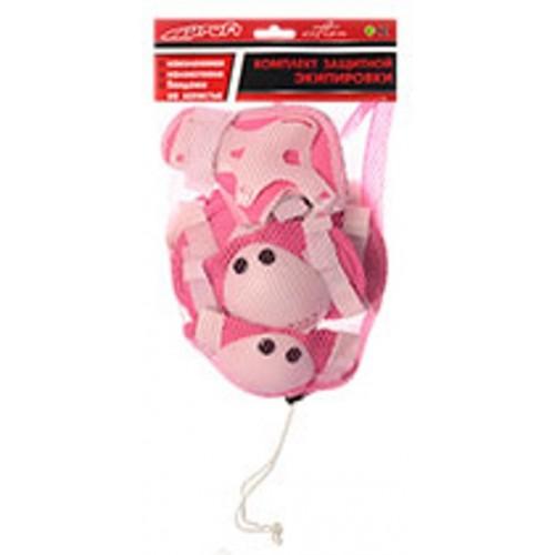 Захист Profi MS 0032 для ліктів, колін і зап'ясть на липучці рожевий