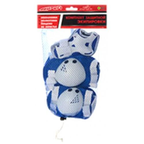 Захист Profi MS 0032 для ліктів, колін і зап'ясть на липучці синій