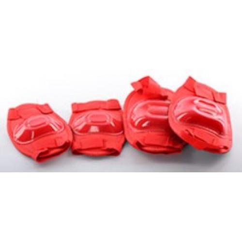 Защита Profi MS 0683 для локтей, коленей, красная