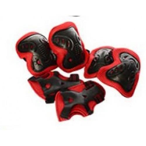 Защита MS1459 для локтей, коленей и запястий на липучке, красная
