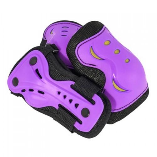 Защита SFR для локтей, коленей и запястий на липучке, пурпурная