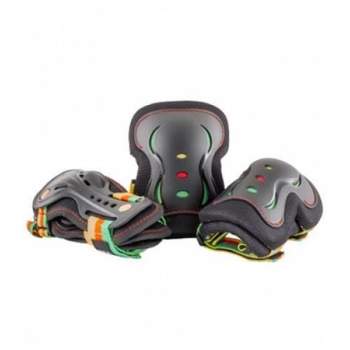 Защита SFR GUAVA для локтей, коленей и запястий на липучке, черная